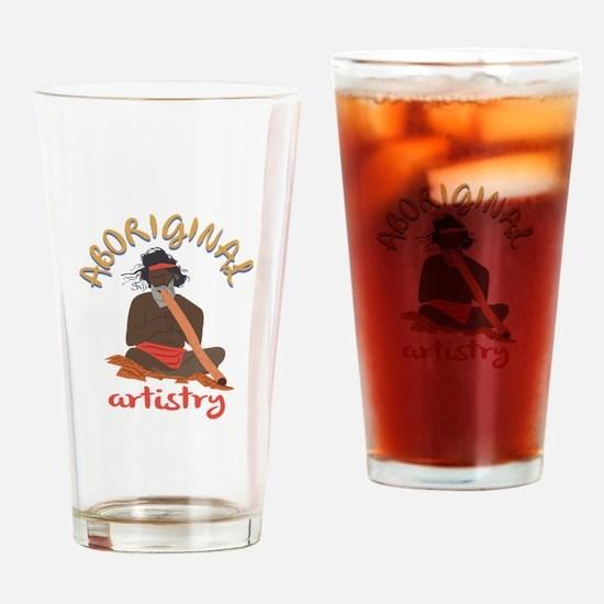 Aboriginal Artistry Drinking Glass