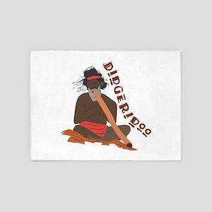 Didgeridoo 5'x7'Area Rug