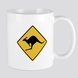 Kangaroo Sign Mugs