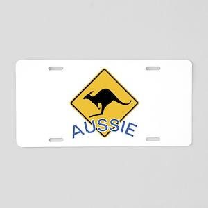 Aussie Kangaroo Aluminum License Plate