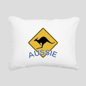 Aussie Kangaroo Rectangular Canvas Pillow