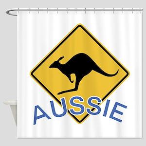 Aussie Kangaroo Shower Curtain