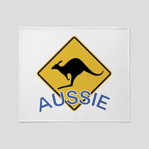 Aussie Kangaroo Throw Blanket