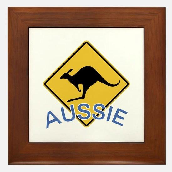 Aussie Kangaroo Framed Tile