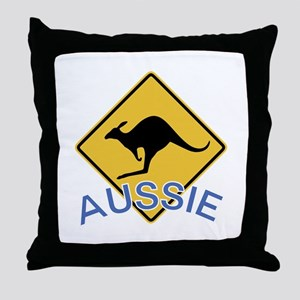 Aussie Kangaroo Throw Pillow