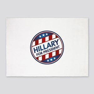 Hillary For President 5'x7'Area Rug
