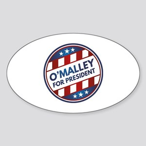 O'Malley For President Sticker (Oval)