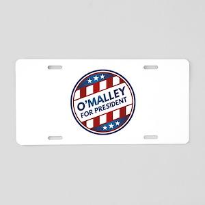 O'Malley For President Aluminum License Plate