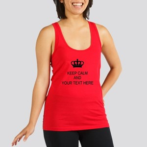 Personalized Keep Calm Racerback Tank Top