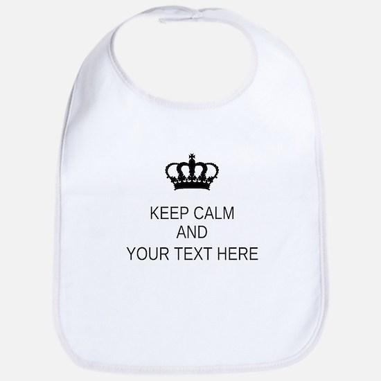 Personalized Keep Calm Bib