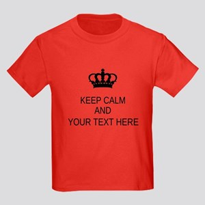 Personalized Keep Calm Kids Dark T-Shirt