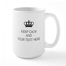 Personalized Keep Calm Large Mug Mugs