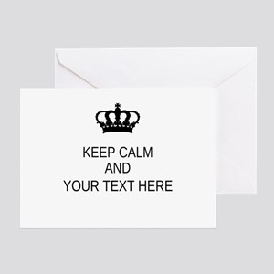 Personalized Keep Calm Greeting Card