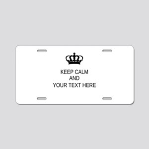 Personalized Keep Calm Aluminum License Plate