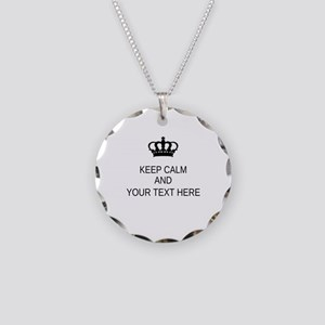 Personalized Keep Calm Necklace Circle Charm