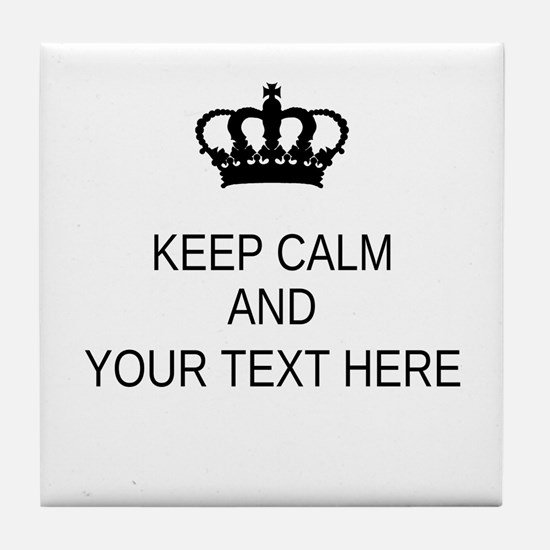 Personalized Keep Calm Tile Coaster