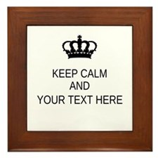 Personalized Keep Calm Framed Tile