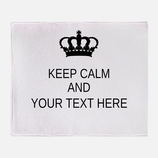 Personalized Keep Calm Throw Blanket
