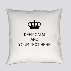 Personalized Keep Calm Everyday Pillow