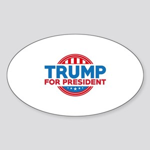 Trump For President Sticker (Oval)