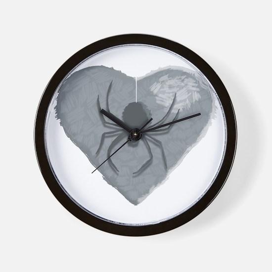 Stoneheart Halloween spider Wall Clock