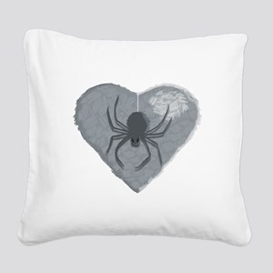 Stoneheart Halloween spider Square Canvas Pillow