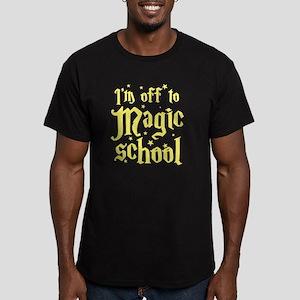 I'm off to MAGIC schoo Men's Fitted T-Shirt (dark)