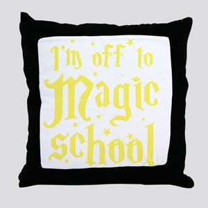 I'm off to MAGIC school Throw Pillow