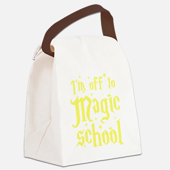 I'm off to MAGIC school Canvas Lunch Bag