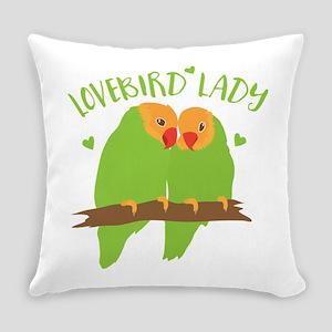 Lovebird Lady Everyday Pillow