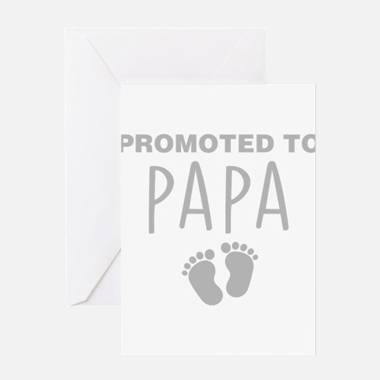 Promoted To Papa Greeting Cards