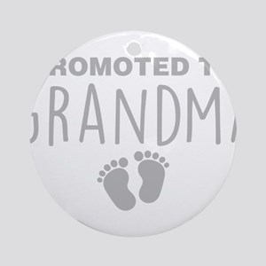 Promoted To Grandma Round Ornament
