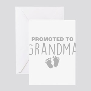 Promoted To Grandma Greeting Cards