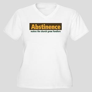 Abstinence Women's Plus Size V-Neck T-Shirt