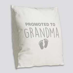 Promoted To Grandma Burlap Throw Pillow