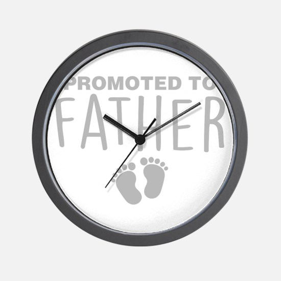 Promoted To Father Wall Clock