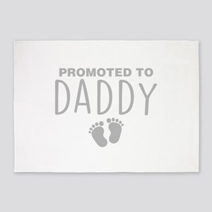 Promoted To Daddy 5'x7'Area Rug