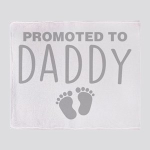 Promoted To Daddy Throw Blanket