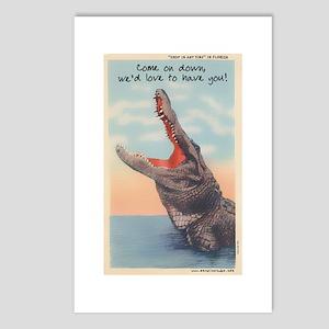 Alligator Invitation Postcards (Package of 8)