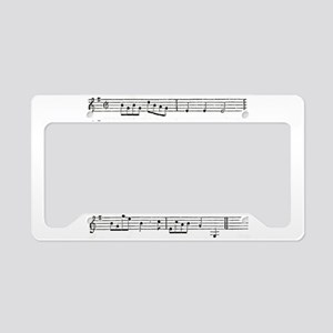 Old Music License Plate Holder