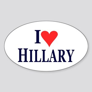 I Love Hillary Sticker