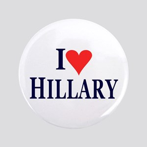 I Love Hillary Button