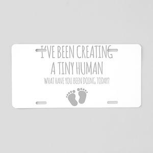 Ive Been Creating A Tiny Human Aluminum License Pl