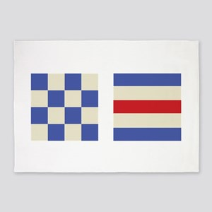 Distress Flags 5'x7'Area Rug