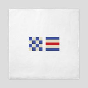 Distress Flags Queen Duvet