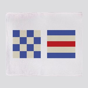 Distress Flags Throw Blanket