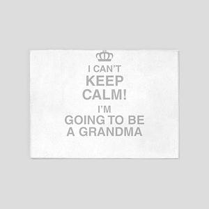 I Cant Keep Calm! Im Going To Be A Grandma 5'x7'Ar