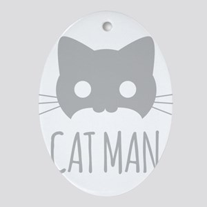 Cat Man Oval Ornament