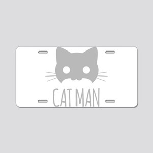 Cat Man Aluminum License Plate