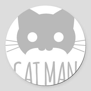 Cat Man Round Car Magnet
